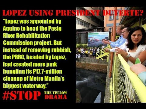 Lopez as the champion of Pasig River Rehabilitation Project