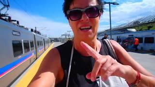 🔴 Валяюсь в ПОЕЗДЕ 🔴 Train to airport Denver Colorado USA 05.06.2019