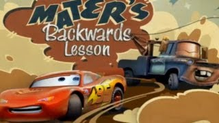 CARS - Mater's Backwards Lesson | Disney / Pixar | Movie Game | Walkthrough #12 | *PC GAME*