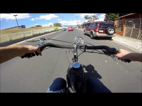 Motorized Bicycle - Testing new 36 tooth sprocket
