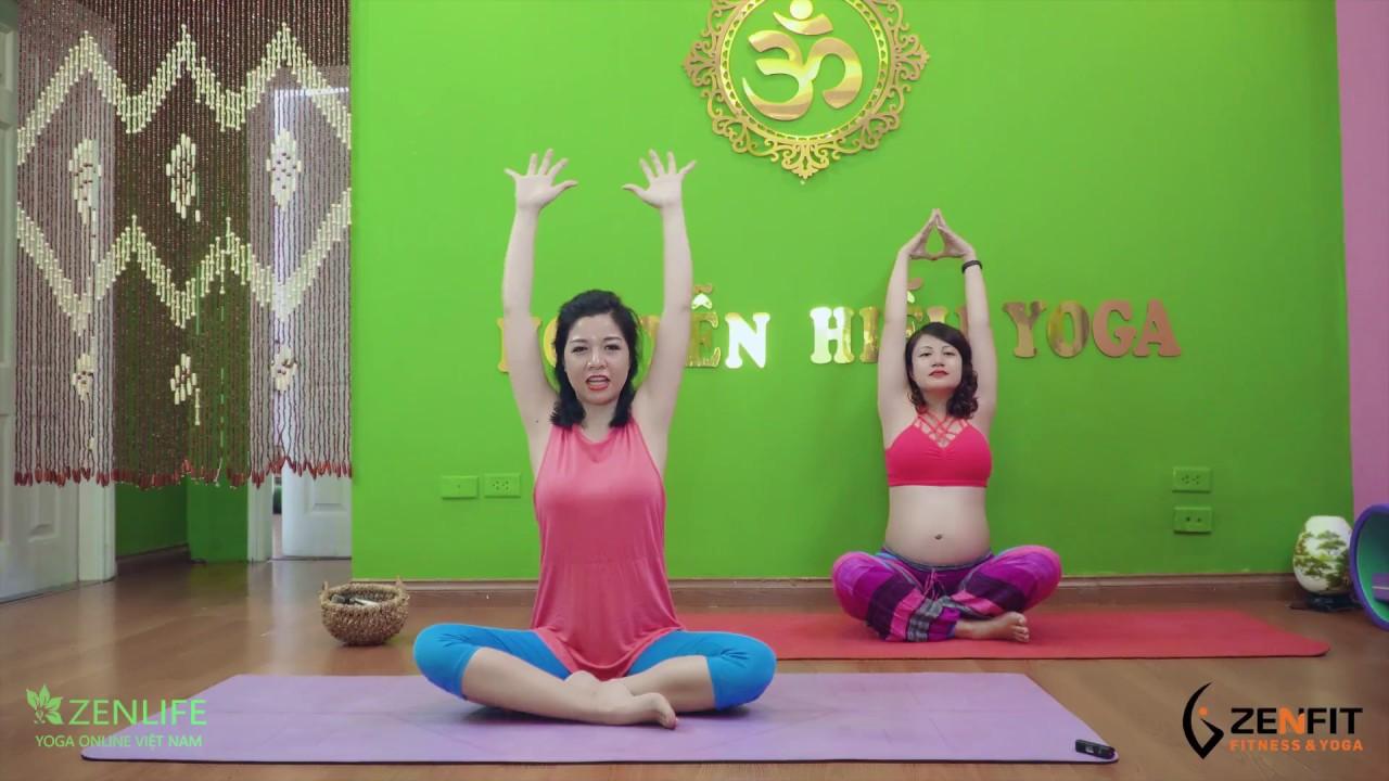 Bài tập Yoga giảm đau lưng hông, thư giãn cho bà bầu / Nguyễn Hiếu Yoga – ft Mai tình yêu