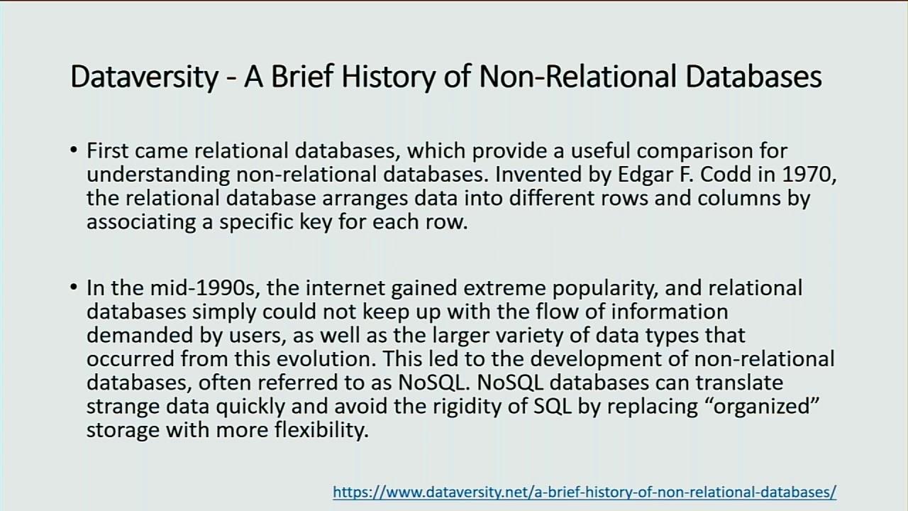 DAMA Canberra 20aug2019, Mac McIntosh (mongoDB) : NoSQL Databases