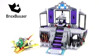 Lego Ninja Turtles 79122 Shredder's Lair Rescue - Lego Speed Build