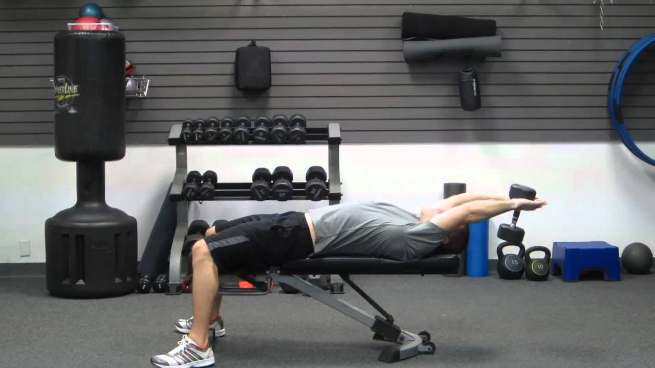 How To Dumbbell Pullover | DB Pullovers | Exercise for Lats - Back ...