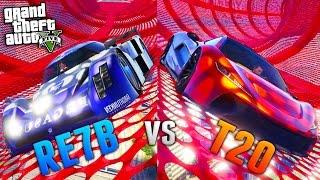 GTA Online: RE7B vs T20 - Stunt Tube Speed Test! (GTA 5 Cunning Stunts DLC)