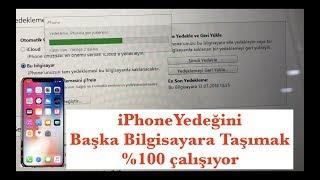 iPHONE YEDEĞİNİ BAŞKA BİLGİSAYARA TAŞIMAK %100 ÇALIŞIYOR!!!