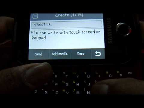 Samsung Corby Pro - Type and Send SMS