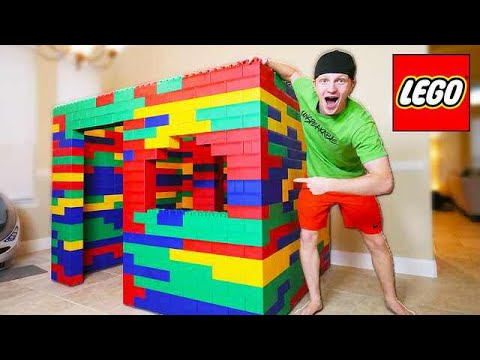 Building Worlds Biggest Lego House Life Size Youtube