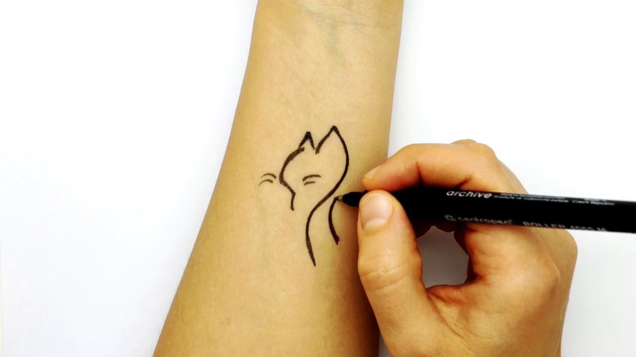 Фото красивых татуировок ручкой легко