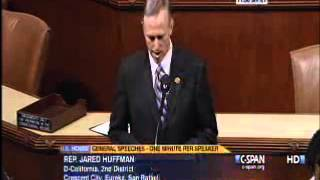 One-Minute Speech by Rep. Jared Huffman, Safe Climate Caucus (February 15, 2013)