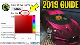 GTA Online - UPDATED 2019 Custom Modded Crew Colors Guide (Tutorial)