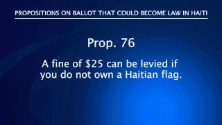 Haiti 2010 Elections - Ballot Propositions
