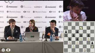 Round 14. Press conference with Karjakin and Ding Liren