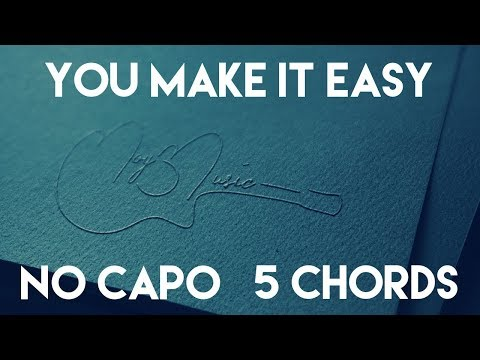 How To Play You Make It Easy by Jason Aldean | No Capo (5 Chords) Guitar Lesson