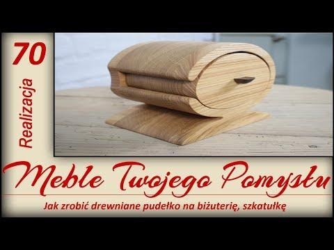 Jak zrobić drewniane pudełko na biżuterię, szkatułkę / How to make a wooden box for jewelry, casket