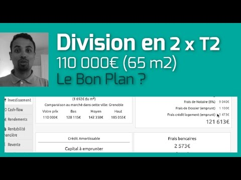 division d 39 un local en 2 x t2 grenoble budget 110k analyse immo youtube. Black Bedroom Furniture Sets. Home Design Ideas