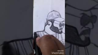 How to draw Venkatesh in#GURU from#Tarak