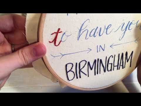 How to Embroider Script Hand Lettering