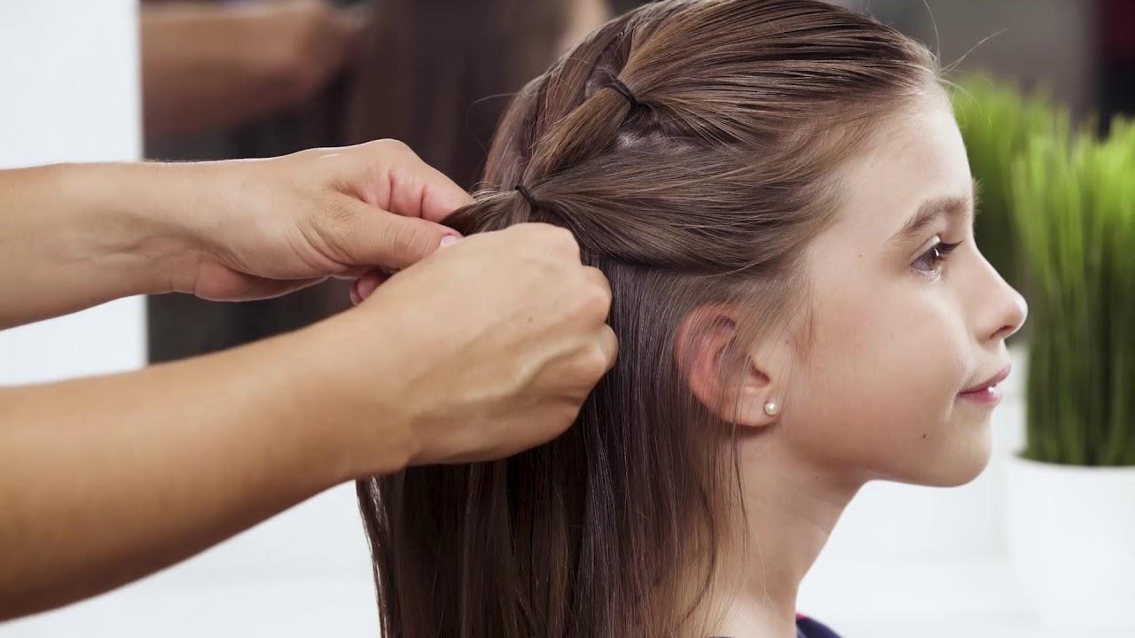 Paso A Paso Peinado Para Ninas Youtube