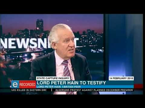 Lord Peter Hain to testify at state capture inquiry