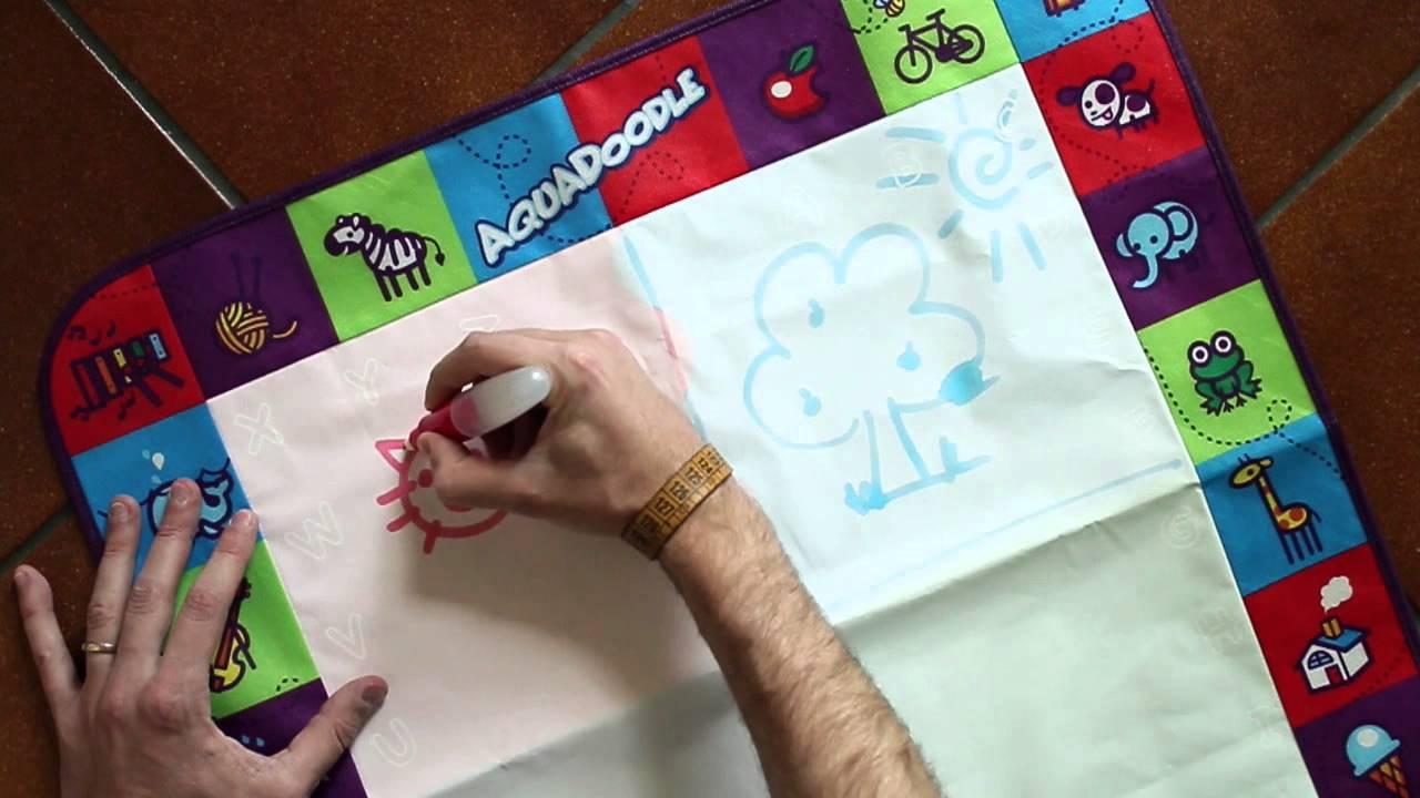 Aquadoodle Come Disegnare Con Lacqua Su Tappeto Magico Youtube