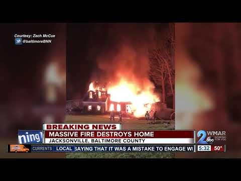 Fire rips through Baltimore Co home