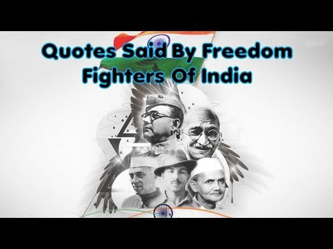 slogans in english by freedom fighter