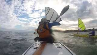 October 2013 South Bass Rendezvous. Kayak Sailing with a Falcon Sail Thumbnail