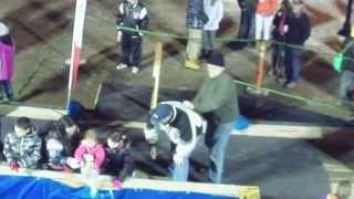 Sheriff Bob Edwards takes a plunge (almost)