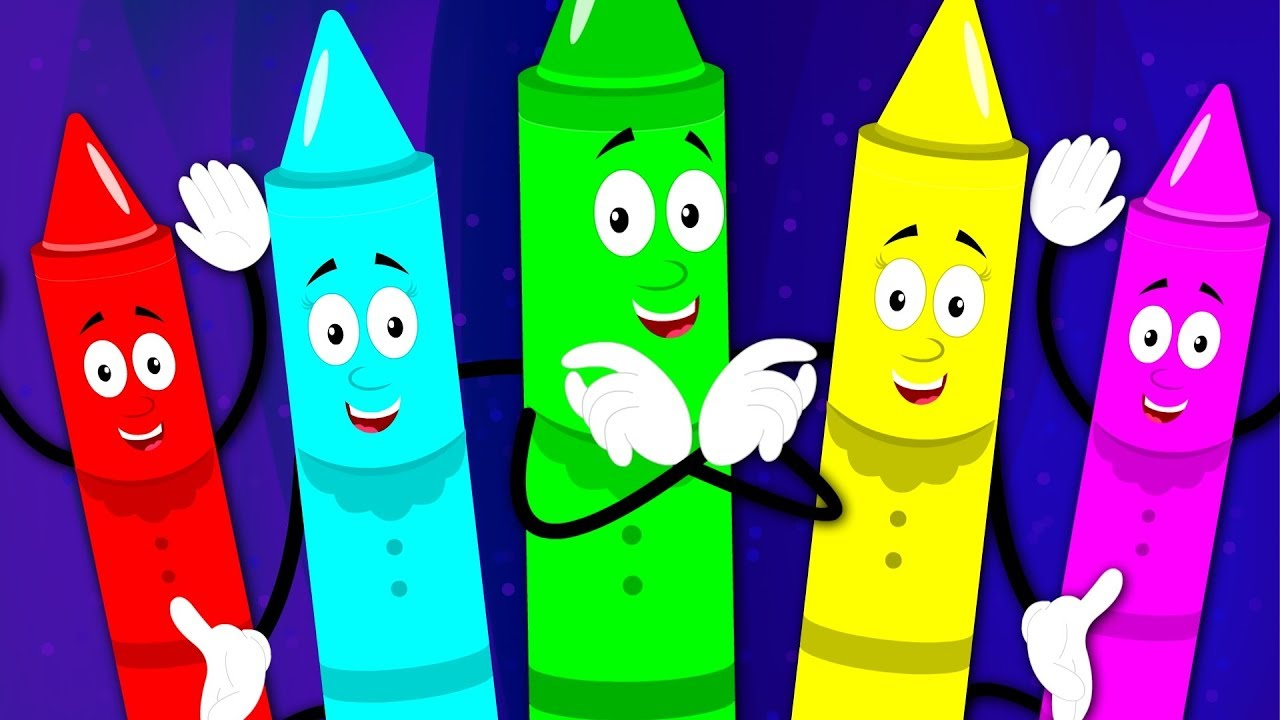 Crayons Finger Family Crayons Color Song Learn Colors With Crayons ...