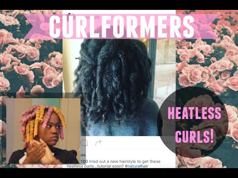 How to Use Curlformers on Long 4c Natural Hair | Heatless Curls Tutorial