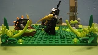 lego ninjago stop motion fight cole vs the constrictai the power of the scythe
