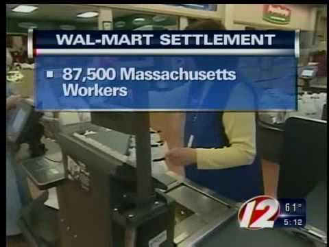 wal mart settlement massachusetts