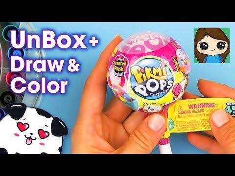 Unbox + Draw Pikmi Pops Surprise!