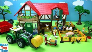 Playmobil Large Farm Building Playset with Animals Toys For Kids
