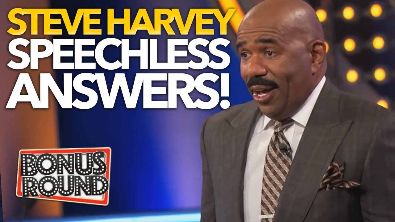10 FAMILY FEUD US ANSWERS That Left STEVE HARVEY SPEECHLESS!