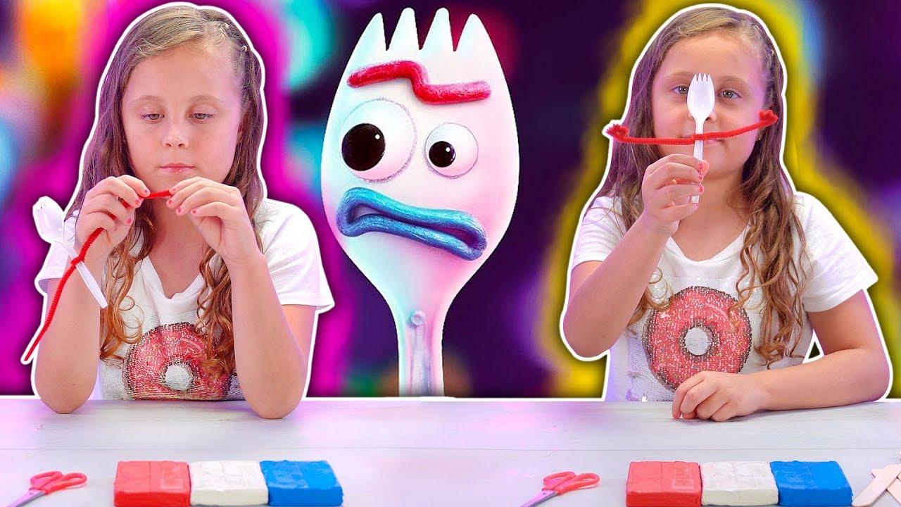 Mira cómo crear a tu propio Forky | Toy Story 4