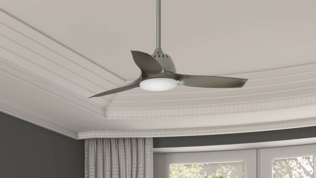 Casablanca Wisp 44 in. Pewter Indoor Ceiling Fan with Light - 59150 ...
