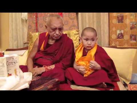 Lama Zopa Rinpoche and Tenzin Phuntsok Rinpoche in Kopan