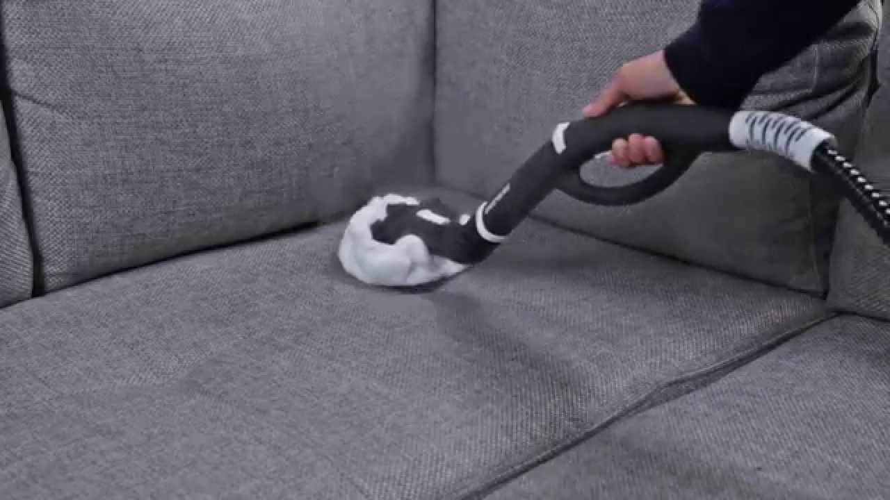 How to Clean a Fabric Sofa with a Steam Cleaner - YouTube