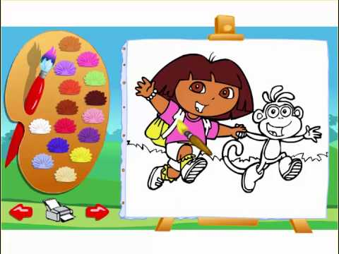 Dora The Explorer Coloring Games  Dora The Explorer Painting