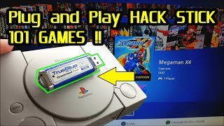 True Blue Mini Hack Stick 101 games for the PlayStation Classic ; Plug and Play !