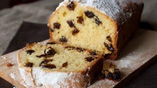 Воздушный ароматный пирог с изюмом.Супер простой рецепт кекса с изюмом.