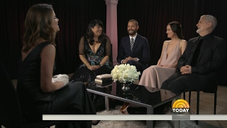 Jamie Dornan, Dakota Johnson, E L James & James Foley Talk Fifty Shades Darker