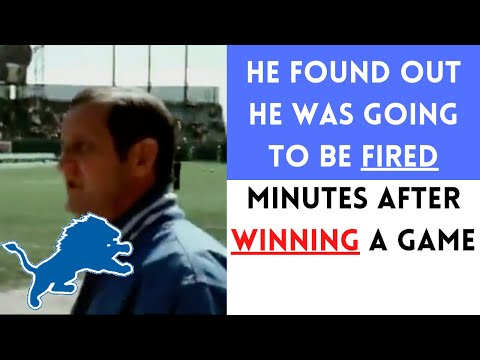 [OC] [Highlight] In 1976, after beating the Falcons 24-10, Lions owner William Clay Ford announced in a postgame press conference, for some inexplicable reason, that head coach Rick Forzano would've been fired if the Lions lost. Forzano was stunned, and announced his resignation 2 weeks later