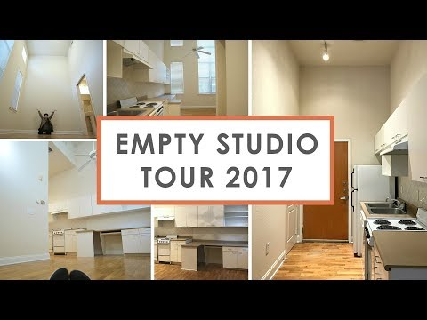 Empty Studio Apartment Tour 2017 (324 Sq. Ft. -$655 Rent)