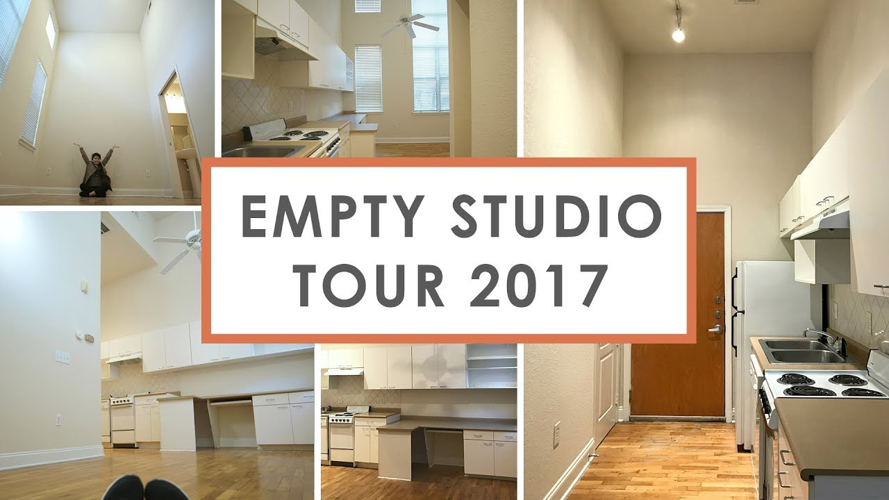 empty studio apartment tour 2017 324 sq ft 655 rent youtube. Black Bedroom Furniture Sets. Home Design Ideas