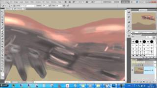 Photoshop - How to draw a Halo Reach Covenant Battle Cruiser - My first drawings I. (speed up video)