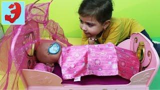 Музыкальная кроватка принцессы для куклы Baby Born doll. Видео для девочек