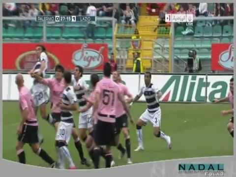 Palermo vs SS Lazio 0-1 Goal André Dias penalty